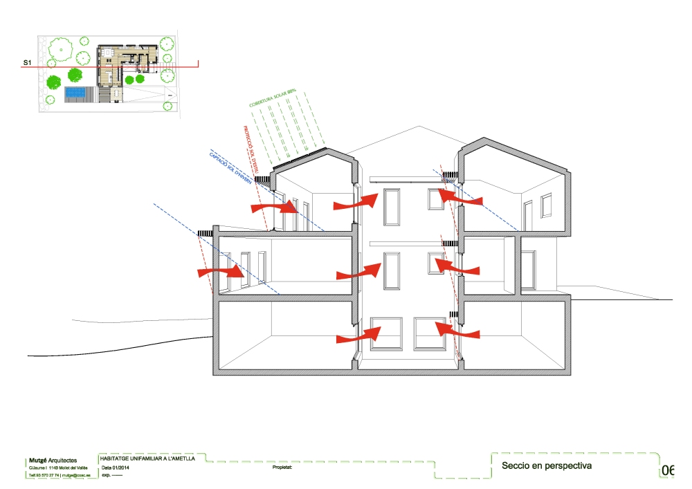 Sketch | mutge arquitectes | Self efficient home #2 (3/6)